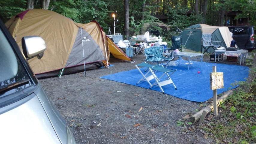 丘の公園オートキャンプの朝