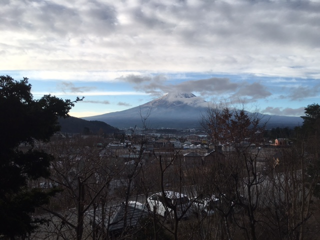 今朝の富士山…
